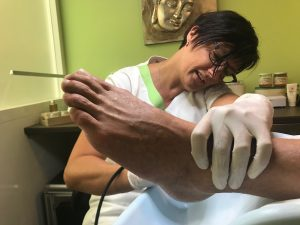 pedicure behandeling kloven scrub massage