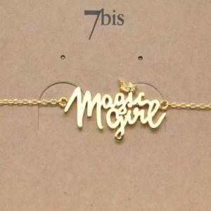 Bijoux 7bis Paris - Bracelet Doré Magic Girl Collection Natacha Birds