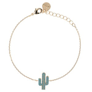 Bijoux 7bis Paris - Bracelet doré cactus Collection Oasis