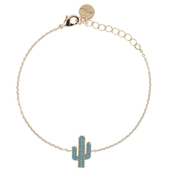 Bijoux 7bis Paris - Bracelet doré cactus Collection Oasis