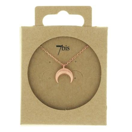 170756DORROS Collier Croissant De Lune Doré Rose Corne Ronde