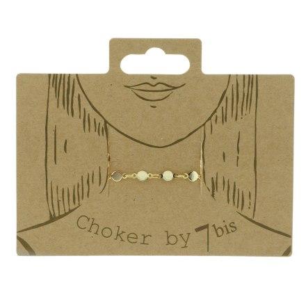 171070DOR Choker Chaine Doré Pastille Ras Du Cou
