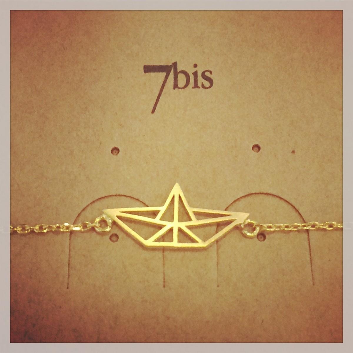 Bracelet Bateau Geometrique Origami Pliage E Shop Bijoux 7bis