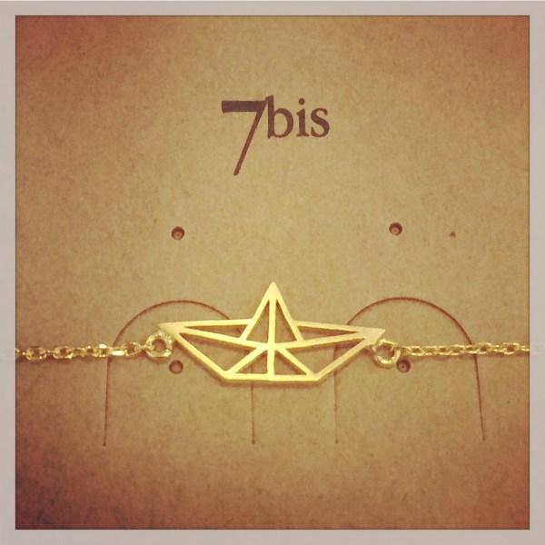 337223DOR Bracelet Bateau Geometrique Origami Pliage