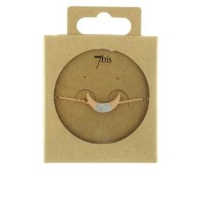 370761DORROS Bracelet Croissant De Lune Doré Rosé Bicolore Géométrique