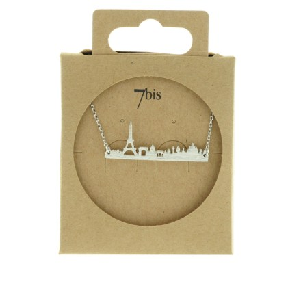 123796ARG Collier Skyline Argent Tour Eiffel Paris