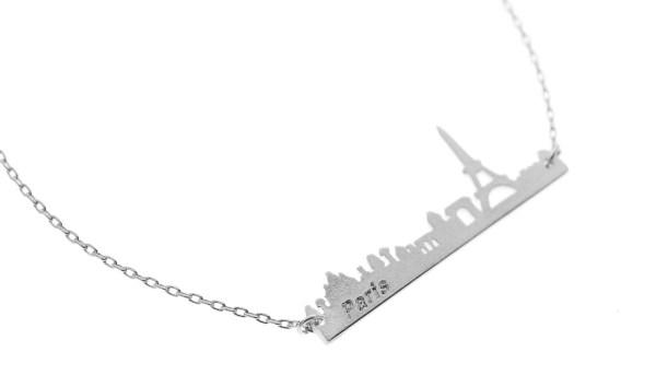 123796ARG Collier Skyline Argent Tour Eiffel Paris