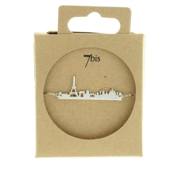 323796ARG Bracelet Skyline Argent Tour Eiffel Paris