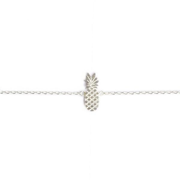 337345ARG Bracelet Ananas Argenté Fruit-plat Exotique