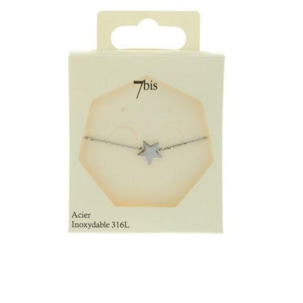 370220ARGINX Bracelet Étoile Argenté Discret Acier Inoxydable