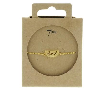 337338DOR Bracelet Pastèque Doré Fruit Ludique