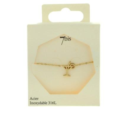 370560DORINX Bracelet Coktail Doré Design Acier 316l
