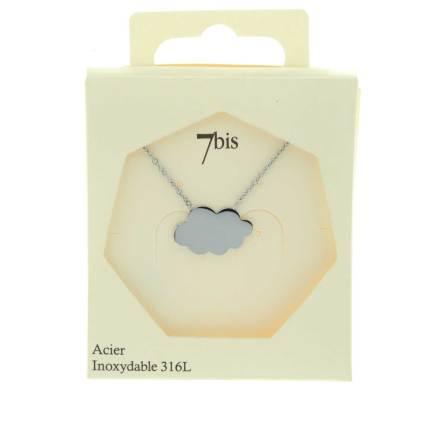 137344ARGINX Collier Nuage Argenté Plein Acier Inoxydable
