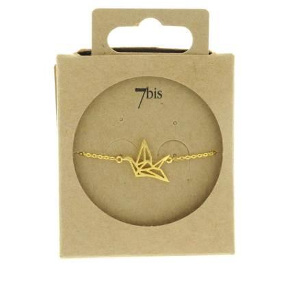 338183DOR Bracelet Grue Doré Animal Origami
