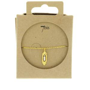 370760DOR Bracelet Plume Double Articulée Bicolore