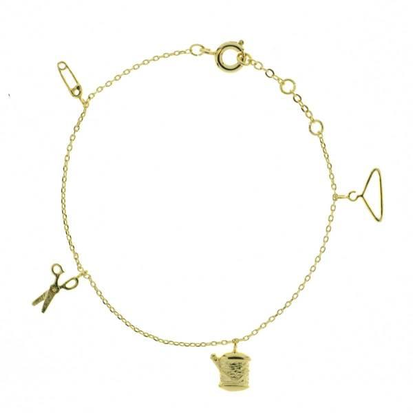 329381DOR Bracelet Couture Doré Motif Minimaliste