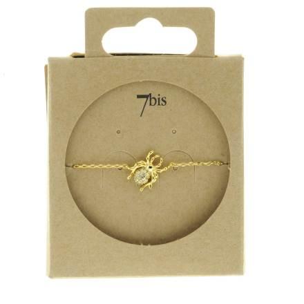 329458DOR Bracelet Araignée Doré Design Joaillarie Strass