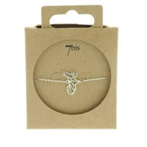 337695ARG Bracelet Cerf Argenté Tête-animal Géométrique