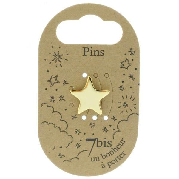 970984DOR Pin's Étoile Doré Design Plein