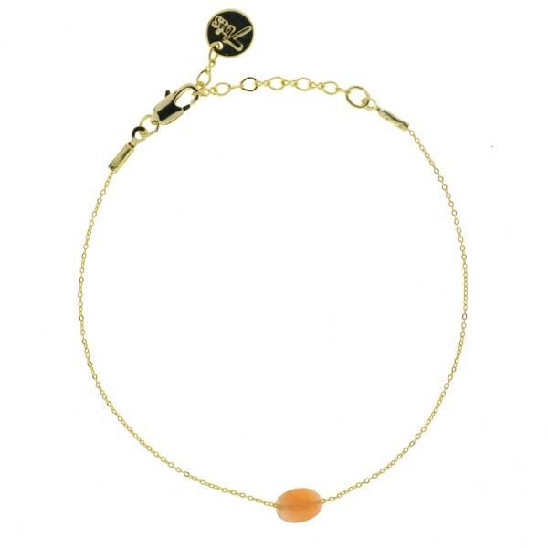 Bracelet ovale facetté