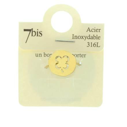 870230DORINX Bague Trèfle Doré Médaille Acier Inoxydable 316l