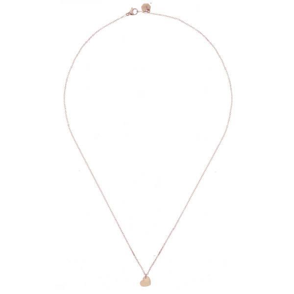 171162DORROS Collier Long 45 Cm Doré Rosé Pendentif Cœur Acier Inoxydable