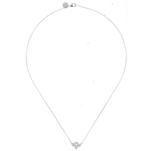 170916ARG Collier Abeille Argenté Reperçé Design