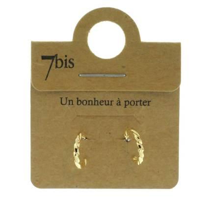 271135DOR Boules D'oreilles Créole Doré Fine Torsadé