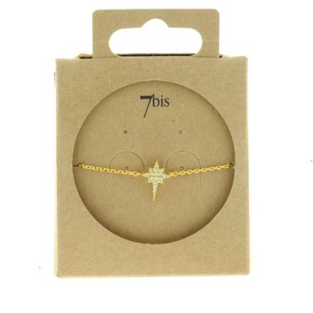 371216CRYDOR Bracelet Étoile Doré Allongée Strass