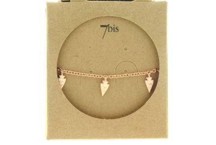 371210DORROS Bracelet Doré Rosé Trois Pampilles Flèches Mobiles