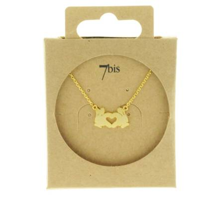 170477DOR Collier Main Doré I-love-you Emoji