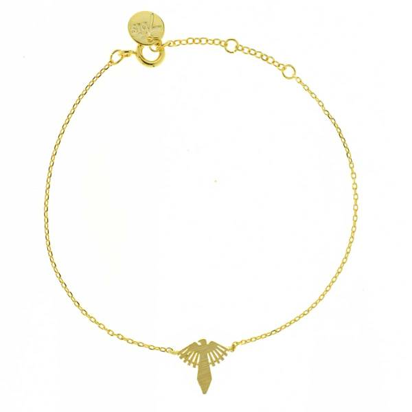 323890DOR Bracelet Condor Doré Indien Soleil