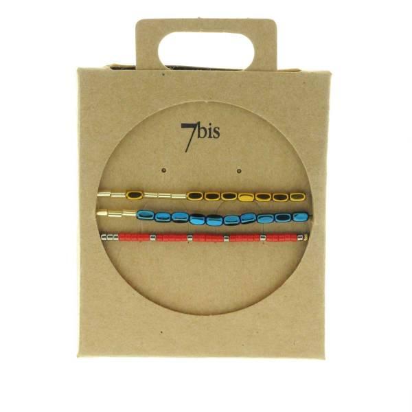 330010C Bracelet mix and match bleu rouge cuivre collection idees cadeaux