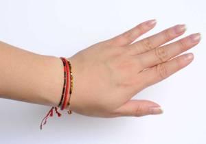 330010D Bracelet mix and match rouge doré collection idees cadeaux