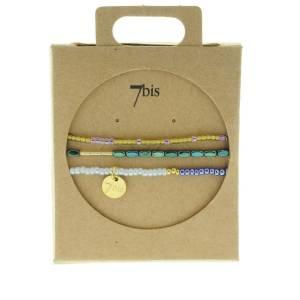330010E Bracelet mix and match bleu vert collection idees cadeaux