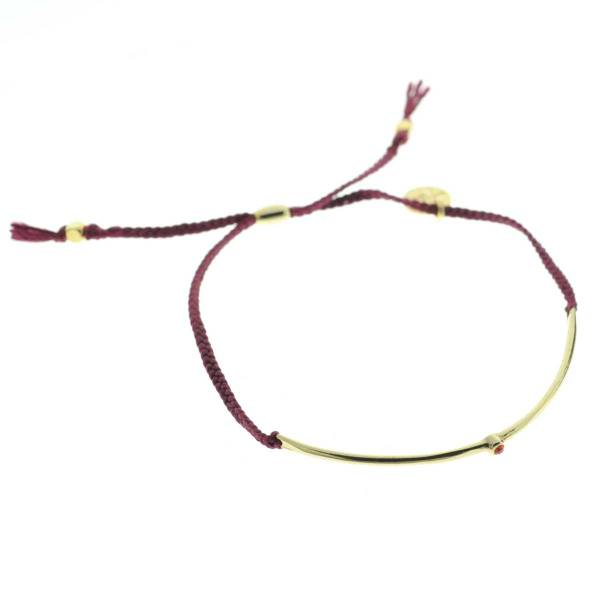 330012D bracelet arc dore bordeau strass ajustable collection autres 7bis
