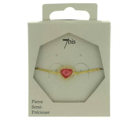 370579ROUDOR Bracelet Pierre Triangulaire Doré Rouge Contour Strass Zircon