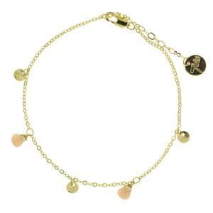 371277JAU Bracelet Pampille Doré Jaune Goutte Précieuse