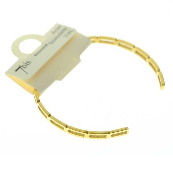 371302DORINX Bracelet Jonc Doré Maillon Allongé Acier Inoxydable