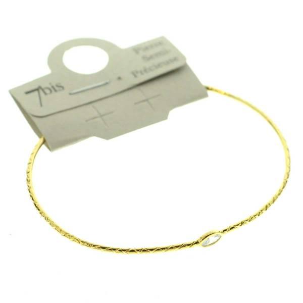 371673CRYDOR Bracelet Jonc Doré Crystal Ajustable Ovale Cloisonné