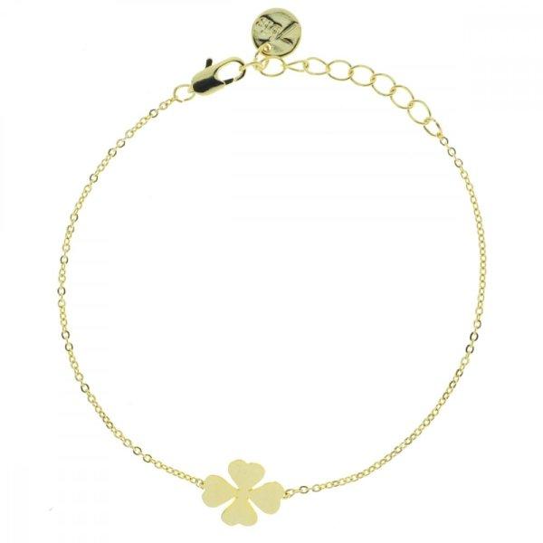 329269DOR Bracelet Trèfle Doré Chance 4feuilles