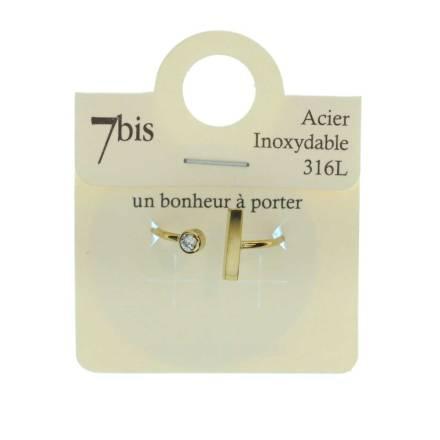 871439DORINX Bague Barre Verticale Doré Ajustable Acier Inoxydable