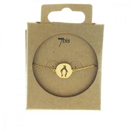 Bracelet Pingouin Doré Medaillon Médaille - E-shop Bijoux 7bis