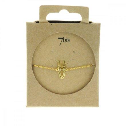 337697DOR Bracelet Lapin Tête-animal Doré Géométrique