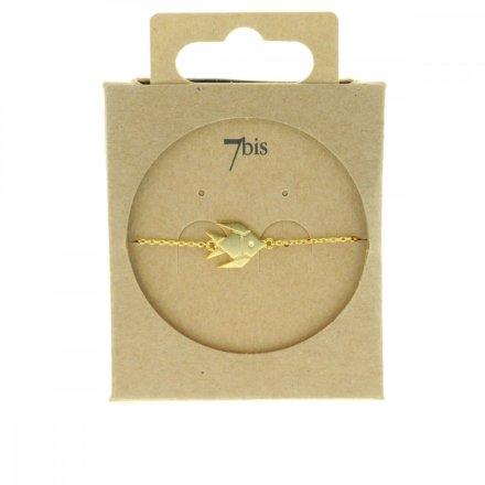 337836DOR Bracelet Poisson Doré Plein Gravé