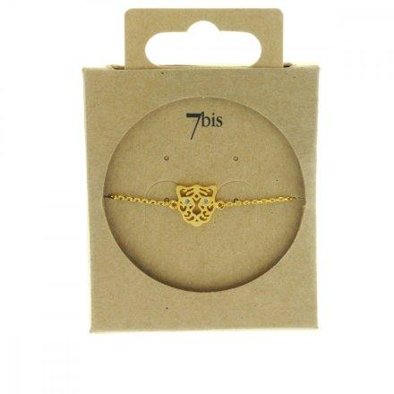 338184DOR Bracelet Tigre Doré Strass Zircon Arabesque