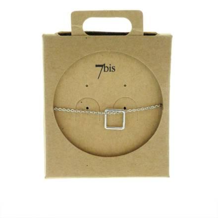 338718ARG Bracelet Losange Argenté Géométrique Laiton