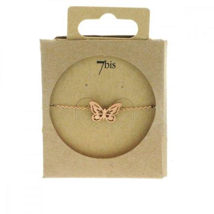 338720DORROS Bracelet Papillon Doré Rosé Reperçé Romantique