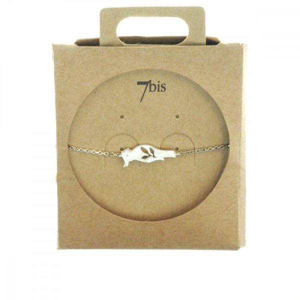 338899ARG Bracelet Perruche Argenté Estampe Laiton