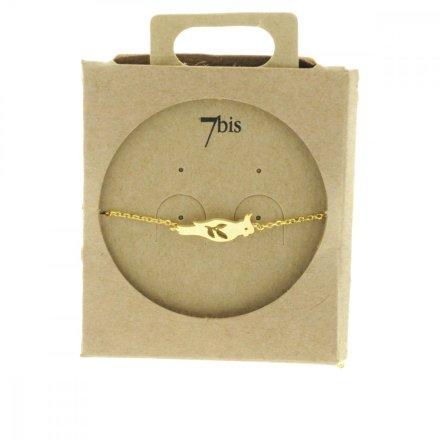 338899DOR Bracelet Perruche Doré Estampe Laiton